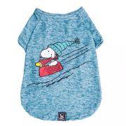 Roupinha para cães - Camiseta de inverno para cachorro Snoopy Wood Bowl Slide ZooZ Pets M