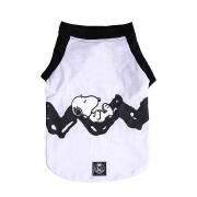 Roupinha para cães Camiseta para cachorro Snoopy Rest Branco e Preta  Zooz Pets