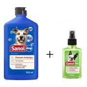 Shampoo Antipulga 500ml + Colonia Perfume Para Cães Machos