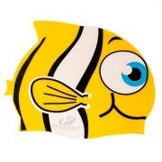 Touca de Silicone infantil para natação Peixinho Amarelo Hammerhead