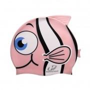 Touca de Silicone infantil para natação Kids Peixinho Rosa Hammerhead