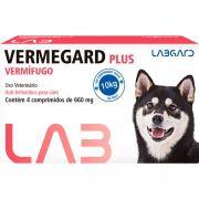 Vermífugo para cachorro Vermegard Plus Anti-helmíntico para cães 4 comp 660mg Anti-helmíntico para cães
