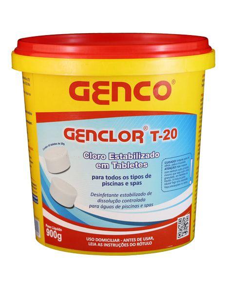 45 Mini Tabletes Cloro Genco + Clorador Flutuador Margarida (Flutuador margarida para cloro)
