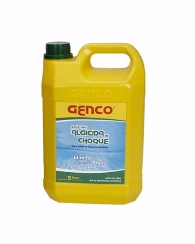 Eliminador De Algas Genco 5 Litros Algicida Choque