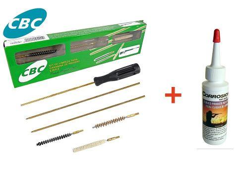 Kit De Limpeza Cbc Para Carabina 4,5mm + Oleo Corrosionx