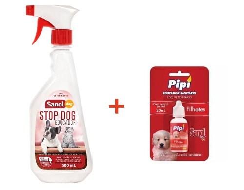 Adestrador e Educador Sanitário Canino Stop Dog + Atrativo Xixi Sim Sanol
