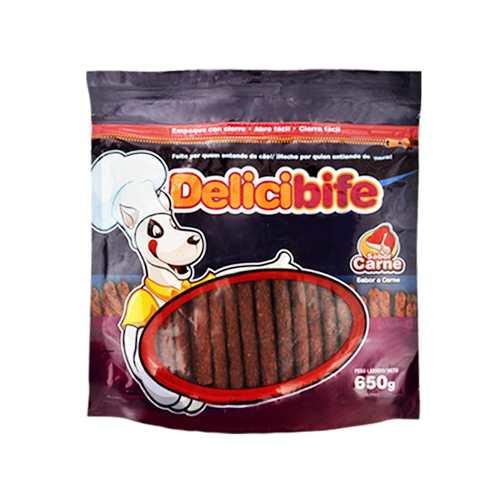Bifinho Ossinho Petisco Flexível Para Cães Carne Delicibife Bifinho Palito 4 pacotes 650g