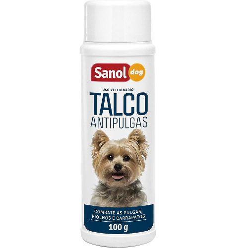 Kit Tratamento Anti Pulga para Cachorro: 2 Shampoos Anti pulgas  e 2 Talcos Anti pulgas para o animal e Ambiente Sanol
