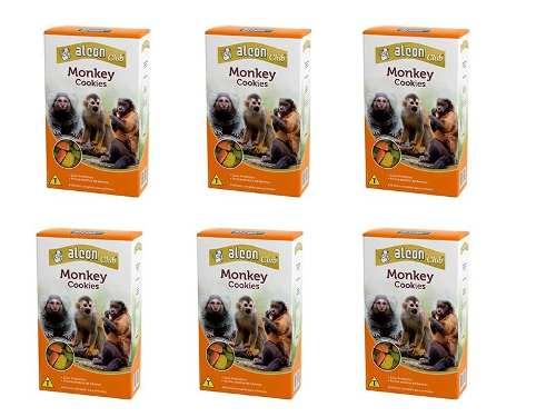 Combo 6 unidades Ração Comida Para Macaco Alimento para primatas Alcon Monkey Cookies
