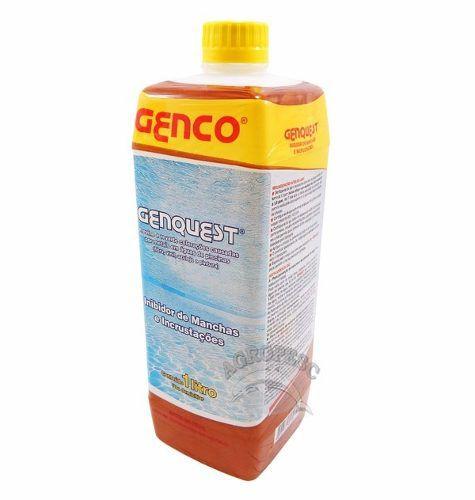 6 Tablete Pastilha Cloro 3x1 + 2 Inibidor De Mancha Genquest