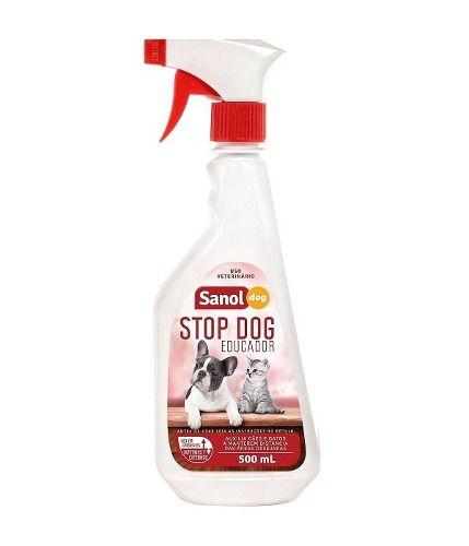 Eliminador de Odores para Gatos Sanol Cat + Repelente Sanitário Stop Dog Sanol