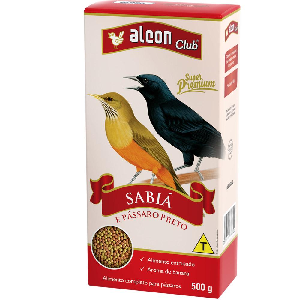 Alimento completo para pássaros Sabiá e Pássaro Preto Alcon Club sabiá 500g