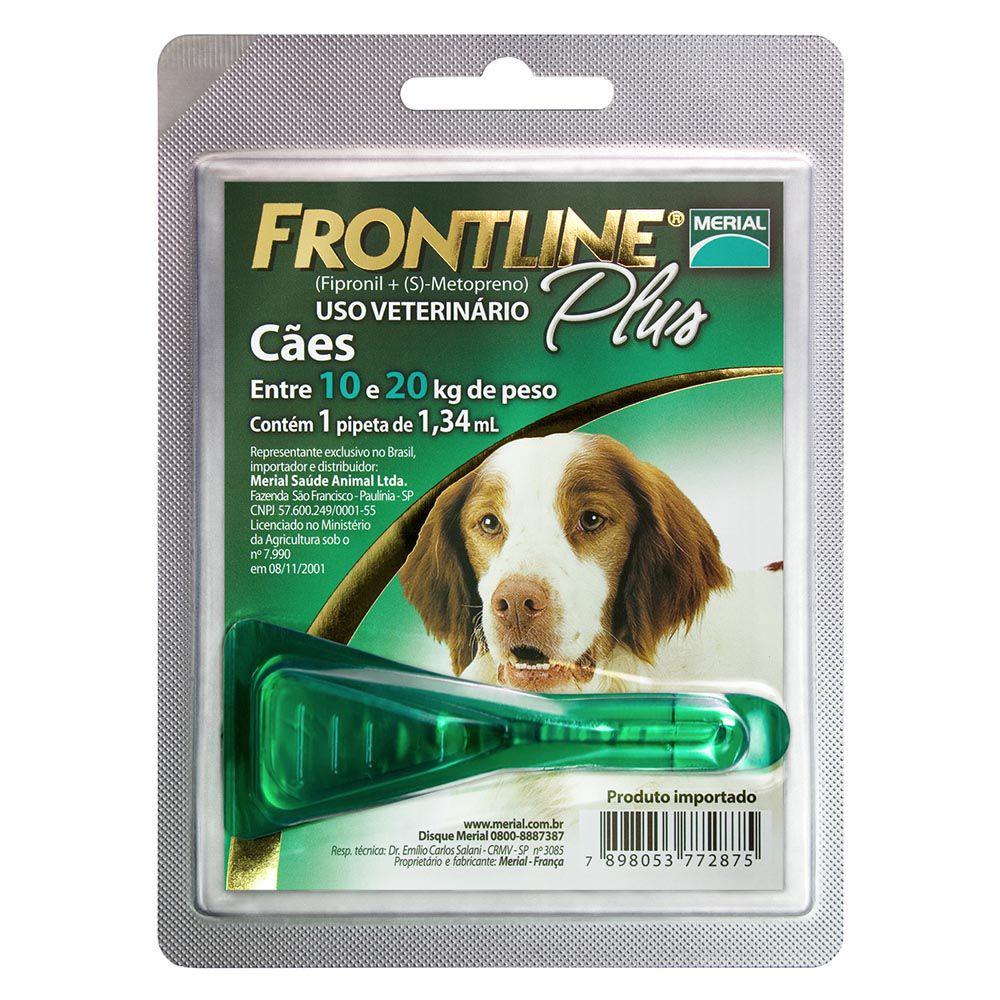 Anti Pulgas e Carrapatos para cães entre 10 e 20kg Frontline