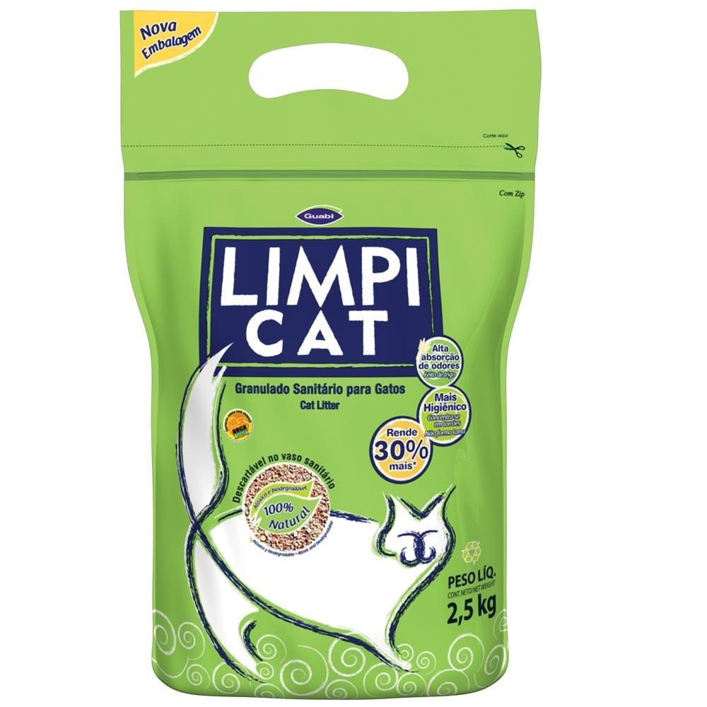 Areia Sanitária Higiênica para gatos Limpi Cat 2,5 KG