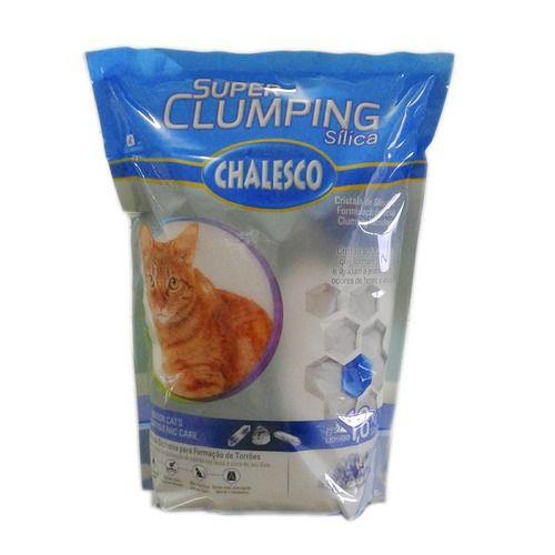 Areia Sanitária Higiênica para gatos Sílica Chalesco Super Clumping - forma torrão 1,8Kg