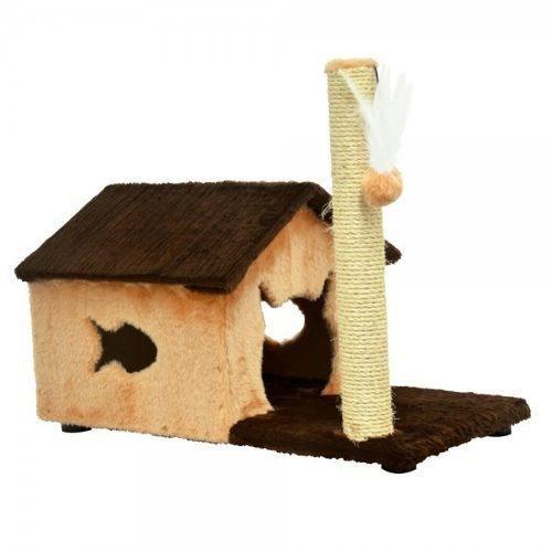 Arranhador Brinquedo Casinha para Gatos de pelúcia House Fit Playground para gatos 70x36x55cm Sao Pet