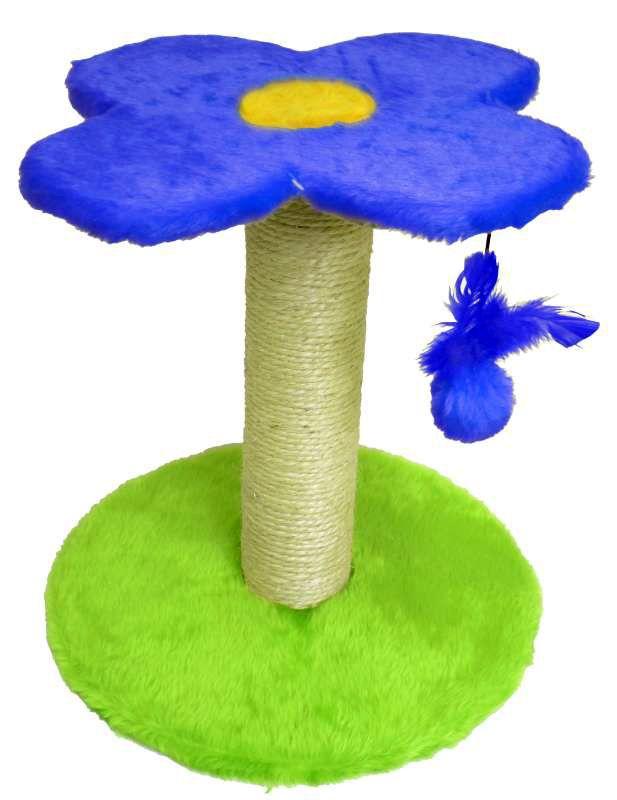Brinquedo de gato de dois andares Arranhador para Gatos duas bases Flor 30x33cm