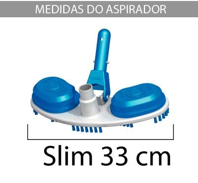 Carrinho Escova Aspirador para piscinas Piscina Slim Sodramar