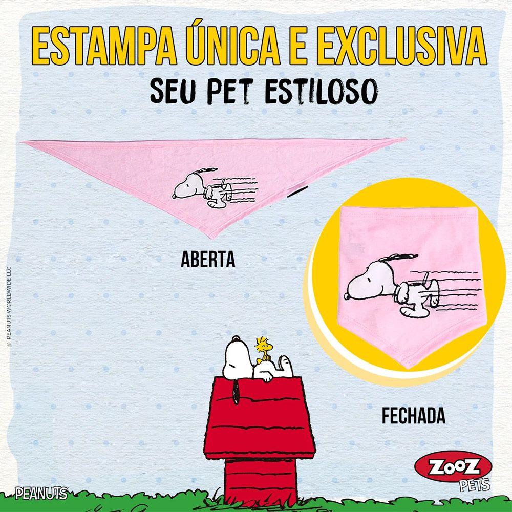 Bandana de cachorro Rosa Snoopy - Bandana para cães Zooz Pets Snoopy Rosa