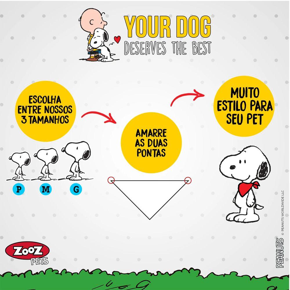 Bandana de cachorro Snoopy - Bandana para cães Zooz Pets Snoopy Amarela