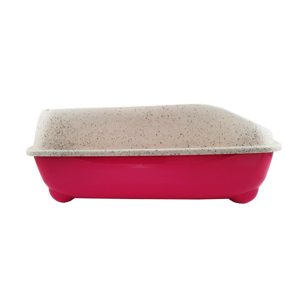 Bandeja sanitária Caixa de Areia de gato com pá coletora Pet Flex Rosa Pink