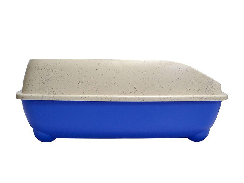 Bandeja sanitária Caixa de Areia de gato com pá coletora Pet Flex Azul