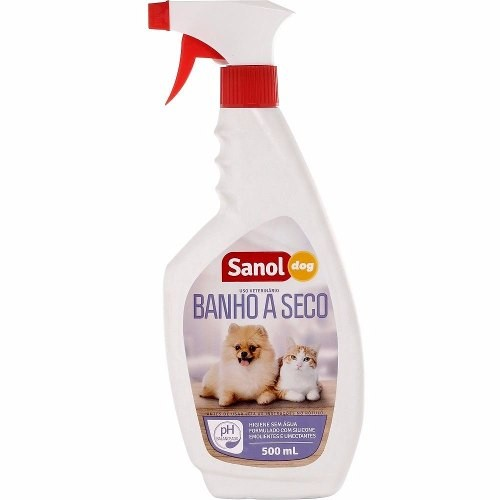 Banho a seco para cachorro e gato Sanol Dog 500ml