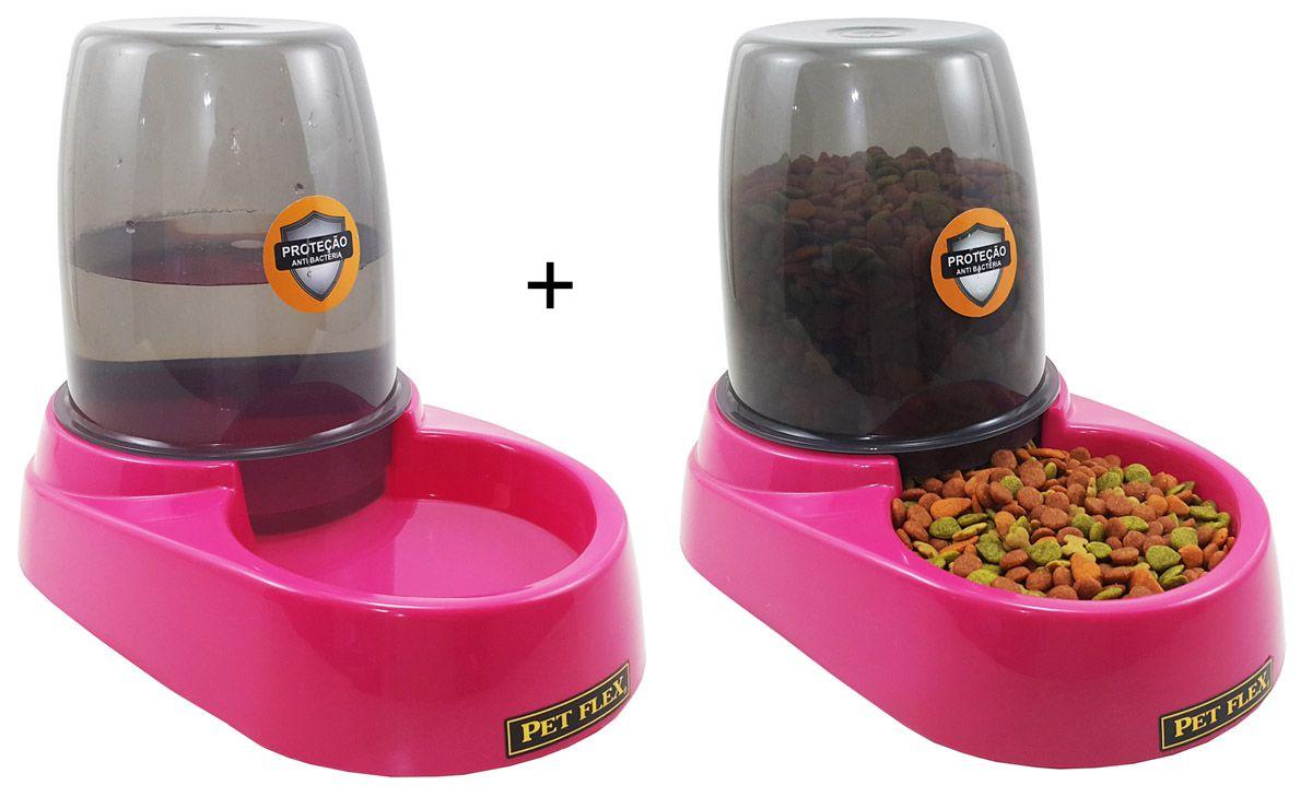 Bebedouro + Comedouro Automático Com Reservatório Bistrô Pet Flex para Cães e Gatos