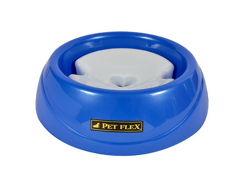 Bebedouro para cães de Pelos Longos com boia limitador de água - Grande 900ml Pet Flex Azul