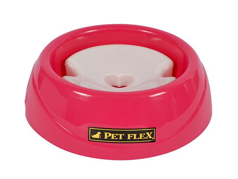 Bebedouro para cães de Pelos Longos com boia limitador de água - Grande 900ml Pet Flex Rosa