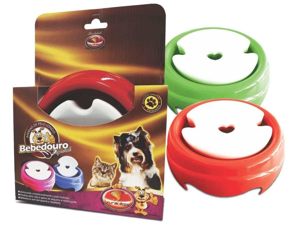 Bebedouro Pelos Longos 1 litro Furacão Pet para cães e gatos - Possui boia limitadora de água