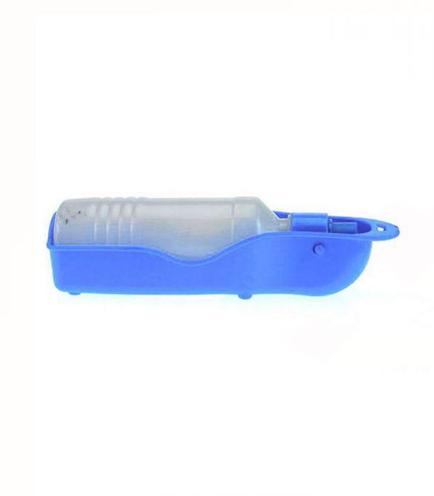 Bebedouro Portátil de passeio para cachorro e gato Tamanho Médio 250 ml Azul Chalesco