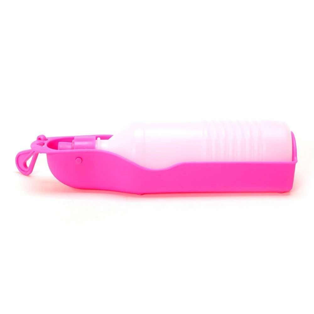 Garrafinha para cachorro beber Água Bebedouro Portátil de passeio para cães e gato 250 ml Rosa Chalesco