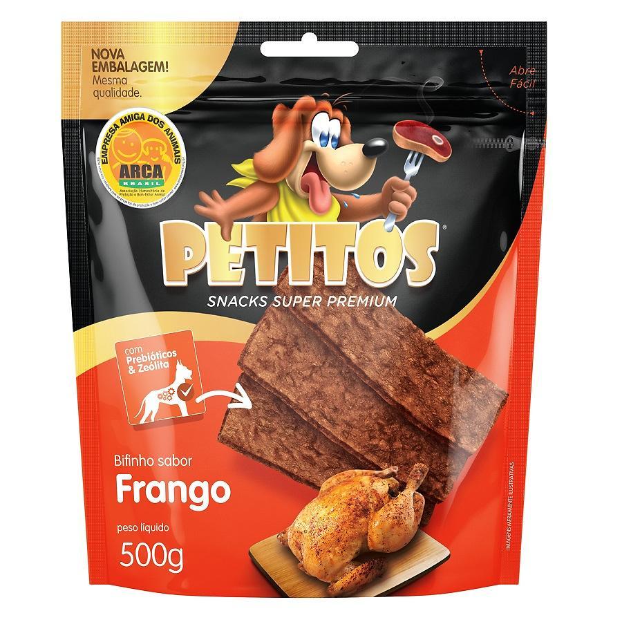Bifinho De Frango Para Cães Petisco Petitos 500g