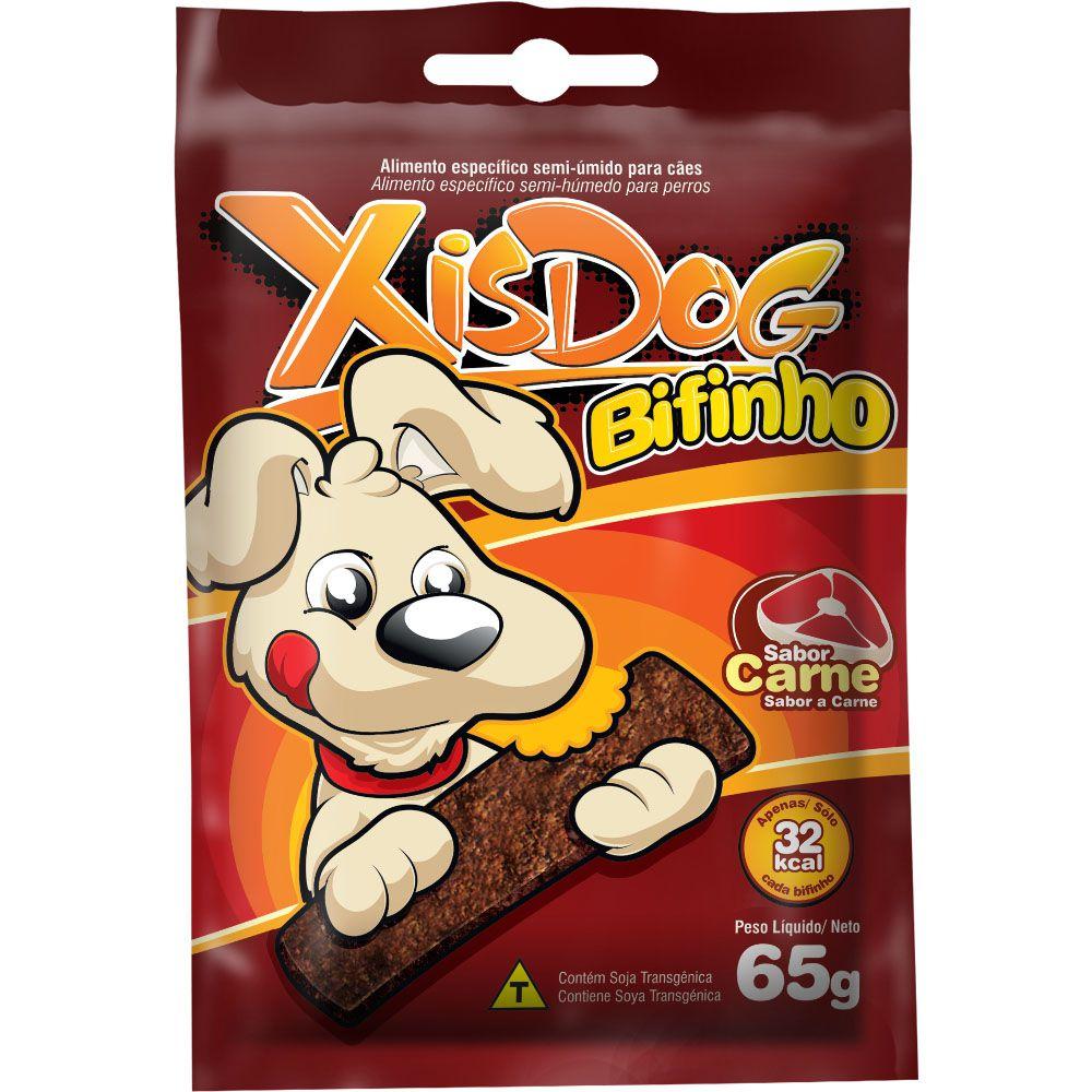 Bifinho para Cachorro Petisco XisDog Bifinho Sabor Carne 6 unidades
