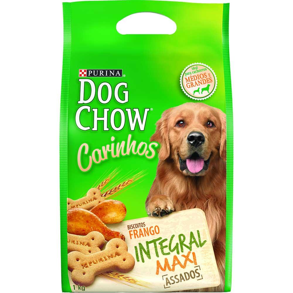Biscoito para cachorro Petisco Nestlé Purina Dog Chow Carinhos Integral Maxi raças grandes - 1 Kg
