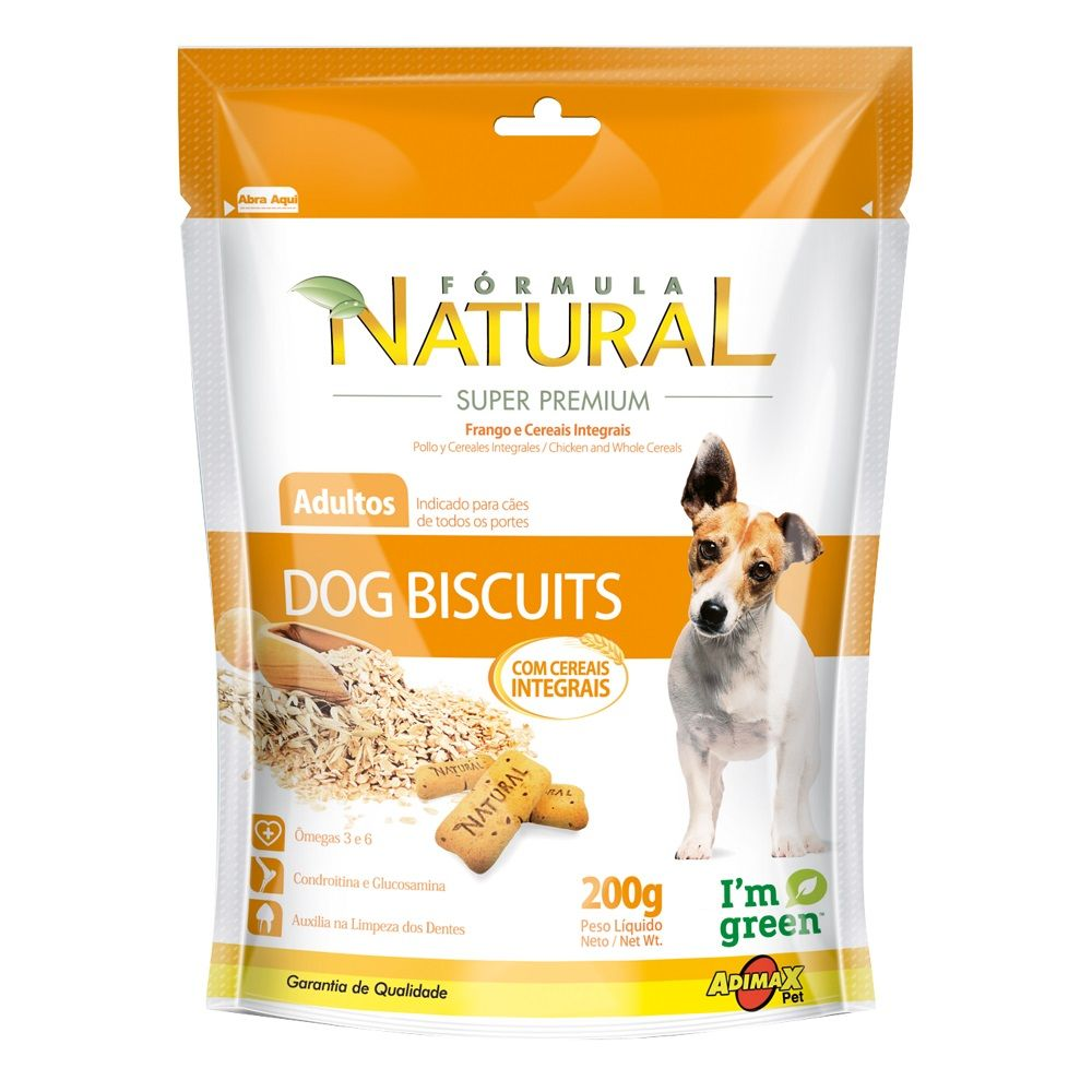 Biscoito para cães Formula Natural Integral Adimax Dog Biscuit - 200 g