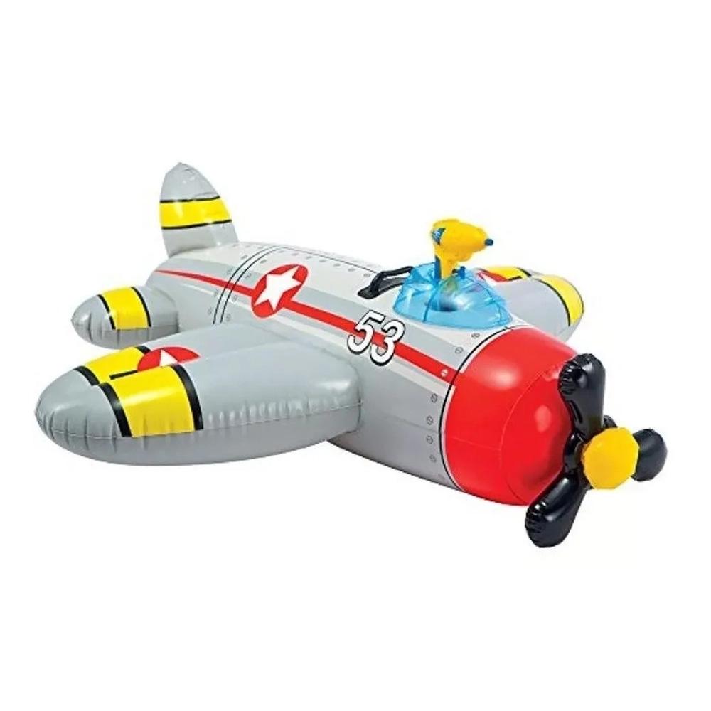 Boia Bote Inflável Avião com pistola de Água Intex 57537