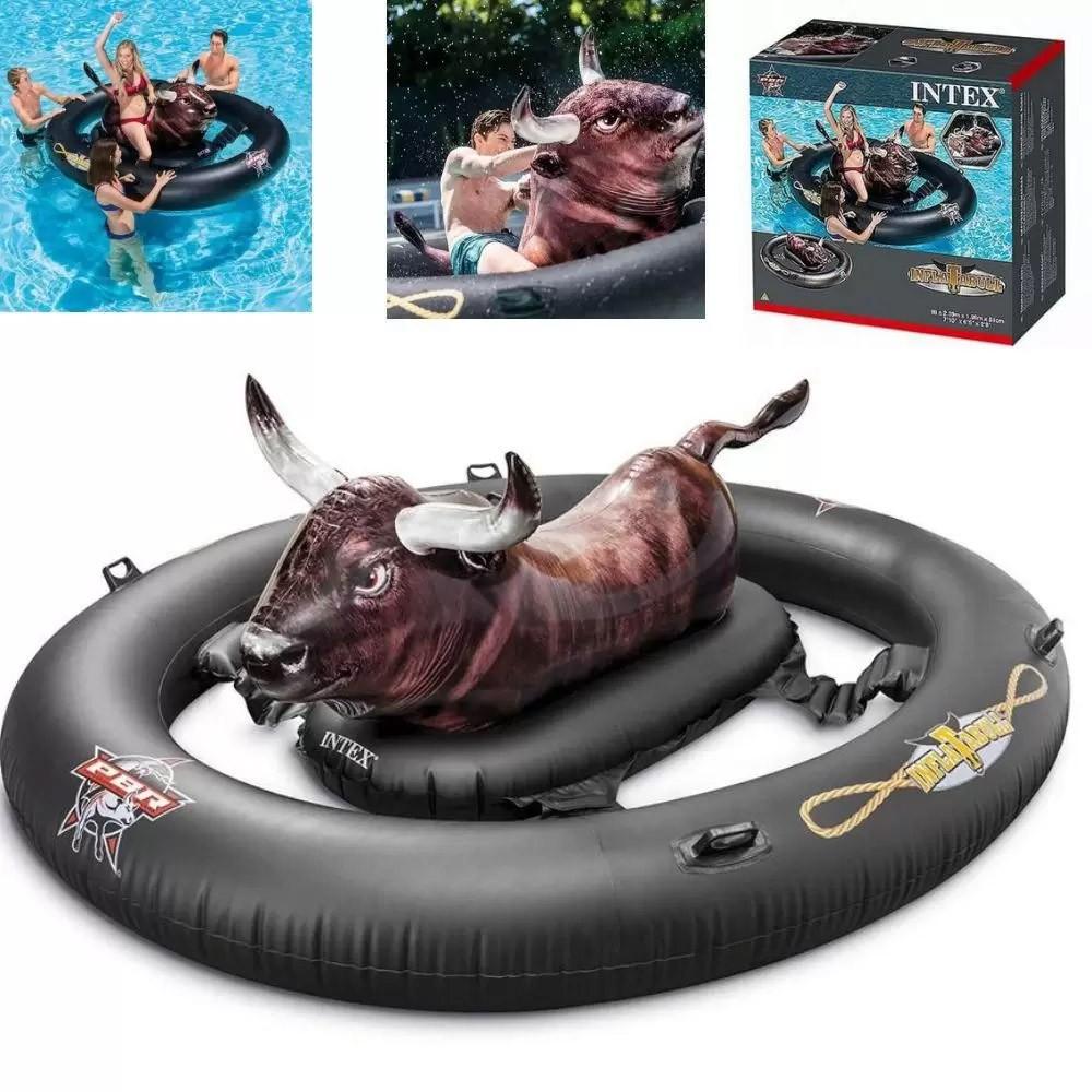 Boia Bote Touro Mecânico Inflável Intex Boia Brinquedo Inflável Touro gigante mecânico para piscinas