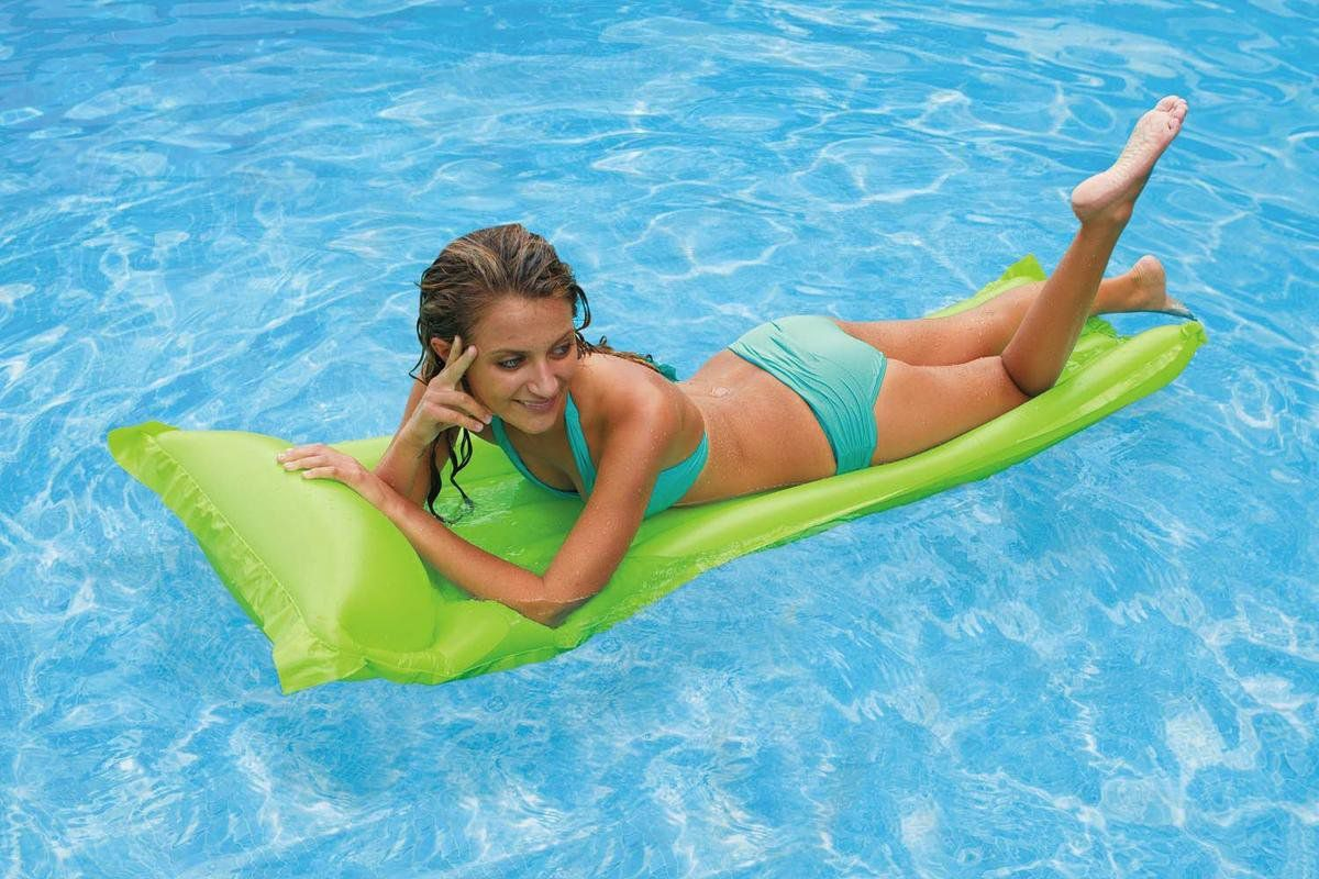 Boia Colchão de piscina - Colchão inflável Bronzeador Liso Verde 1,83m X 69cm Intex 59703-V