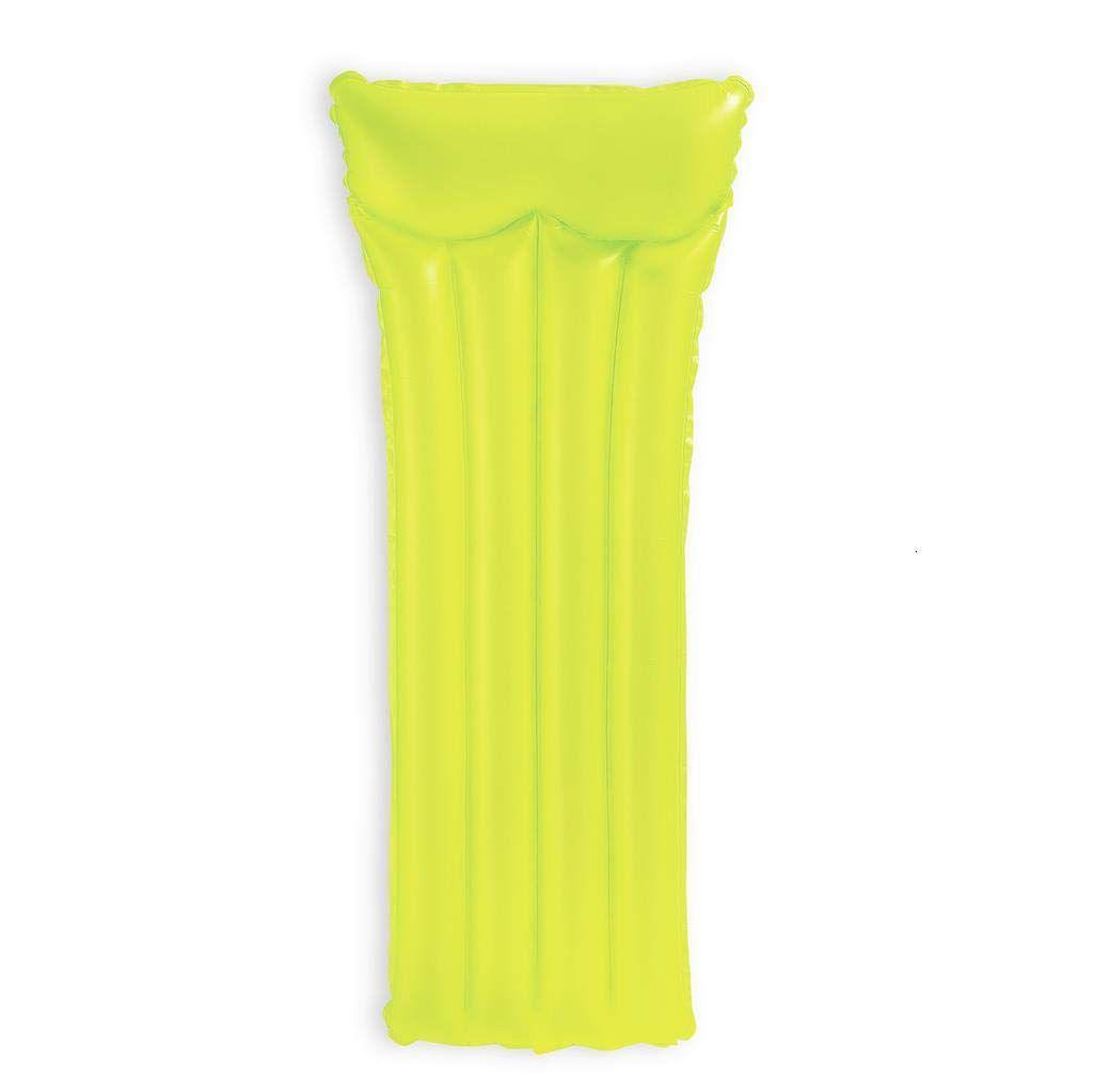 Boia Colchão de piscina - Colchão inflável Bronzeador Neon Amarelo 1,83m X 76cm Intex 59717-A