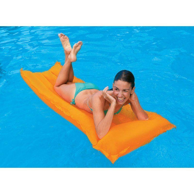 Boia Colchão de piscina - Colchão inflável Bronzeador Neon Laranja 1,83m X 76cm Intex 59717-L