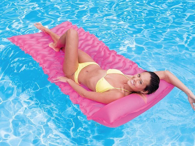 Boia Colchão inflável Bronzeador para piscina Colchão Esteira Rosa Pink Intex 58807-R
