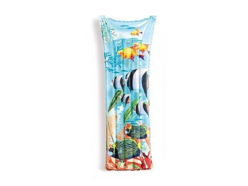 Boia colchão inflável para piscina Bronzeador Azul/Mar (183 X 69Cm) 59720-3
