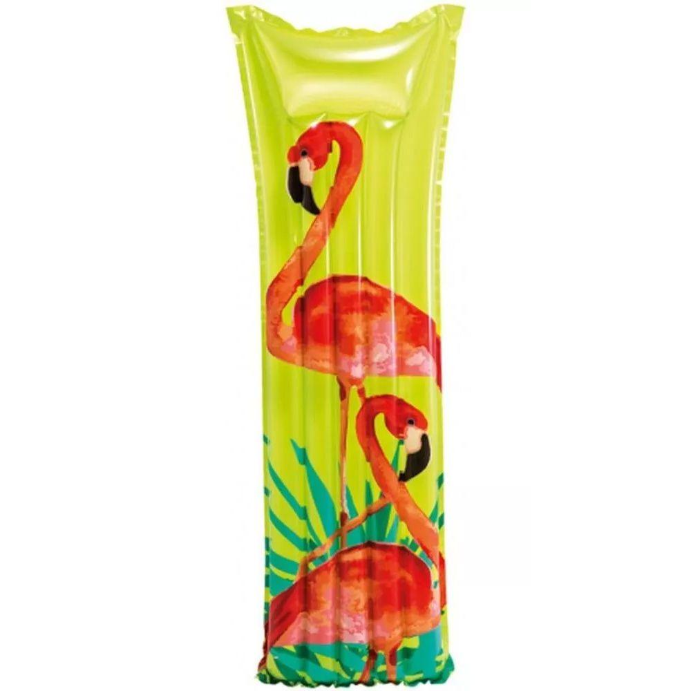 Boia colchão inflável para piscina Bronzeador Verde / Flamingo (183 X 69Cm) 59720-1