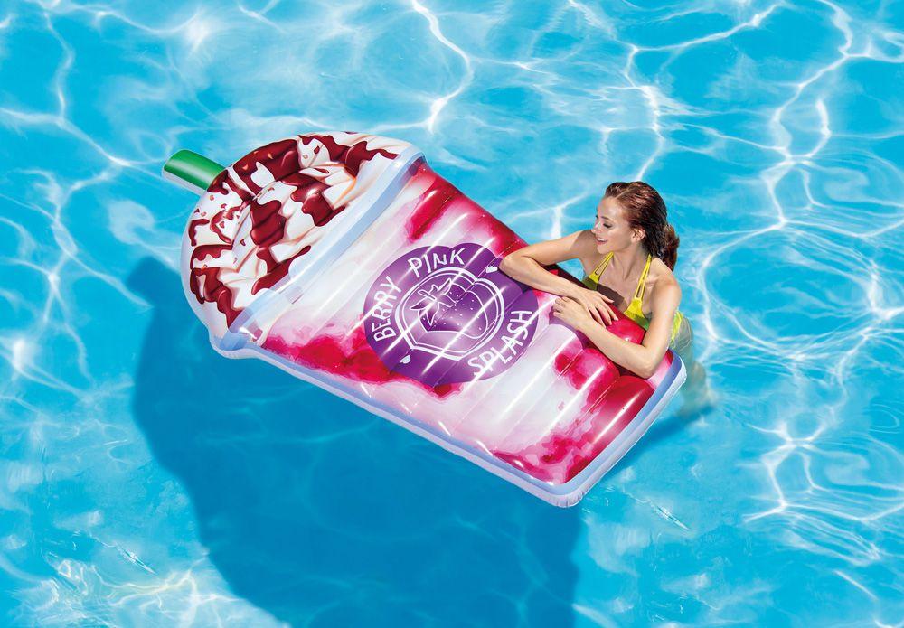 Boia Gigante Colorida Colchão Inflável para Piscina Temática Milk Shake Intex