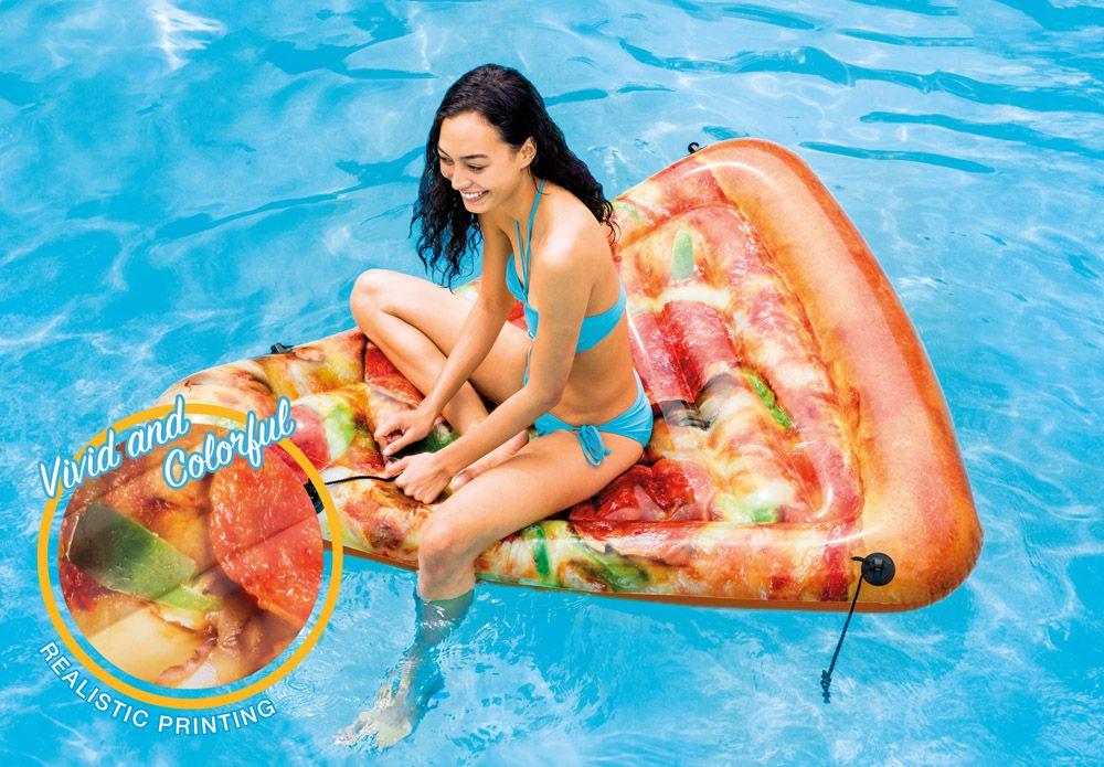 Boia Inflável Colchão para Piscina Pedaço de Pizza Divertida Intex Boia do Instagram Blogueiras Famosas