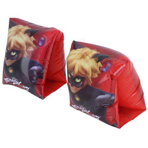 1 par de Boia de Braço inflável para crianças Ladybug Cat Noir Miraculous