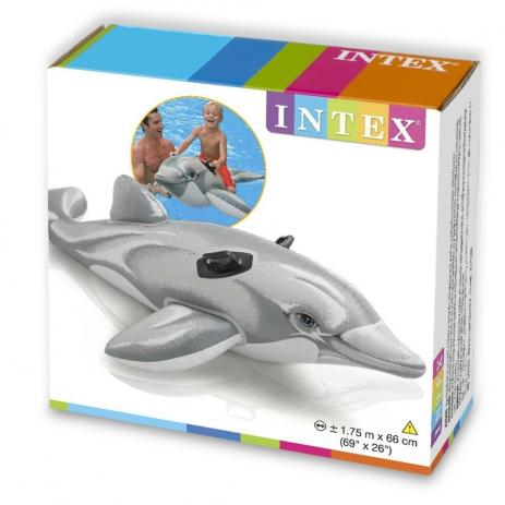 Boia Golfinho - Bote inflável para piscina Golfinho Intex 1,75m x 66cm 58535