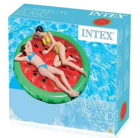 Boia Inflável Gigante para piscina Colchão InflávelIlha Melancia Divertida Intex - Suporta até 200Kg Boia Instagram